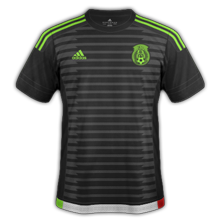 Mexique 2015 maillot noir domicile Copa America