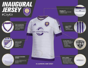 Orlando City 2015 maillot foot exterieur officiel