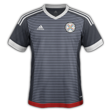 Paraguay 2015 2016 maillot exterieur Copa America 2015