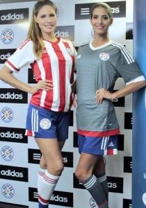 Paraguay 2015 les maillots de football domicile et exterieur