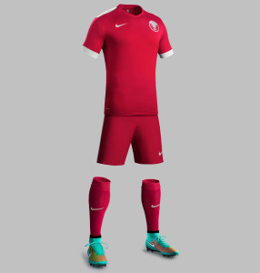 Qatar 2015 maillot domicile football