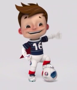 mascotte EURO 2016 football france Super Victor