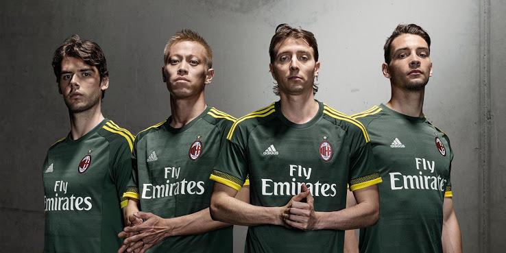 Découvrez les 3 maillots de foot du Milan AC 2016
