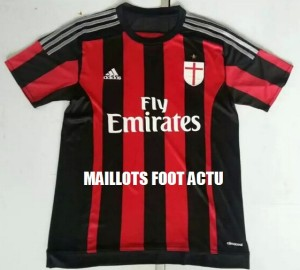 AC Milan 2016 maillot domicile foot 2015 2016