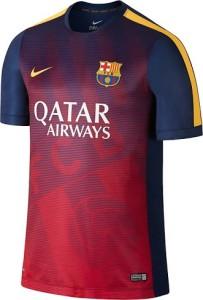 Barcelone 2015 maillot avant match