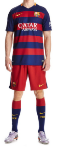 Barcelone 2016 tenue domicile football 15-16