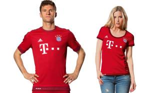 Bayern Munich 2015 2016 maillot domicile Muller