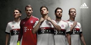 Bayern Munich 2016 maillot exterieur 15-16 officiel