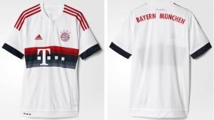 Bayern Munich 2016 maillot exterieur 2015 2016 officiel