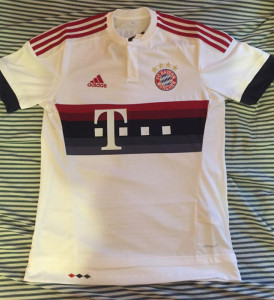 Bayern Munich 2016 maillot exterieur foot 15-16 photo