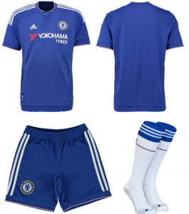 Chelsea 2016 maillot short chaussettes foot 15-16