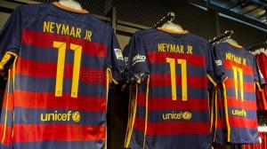FC Barcelona 15 16 kit new typeface Neymar