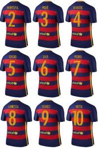 FC Barcelone 2015 2016 nouveau flocage maillot