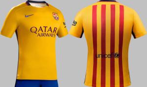 FC Barcelone 2016 maillot exterieur 15-16