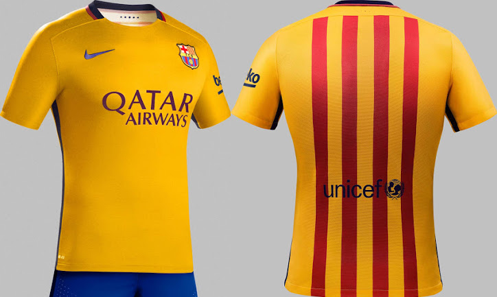 Fc barcelone maillot football maillots foot actu for Barcelone maillot exterieur