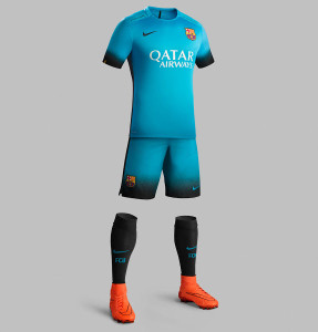 FC Barcelone 2016 maillot third tenue foot 15-16