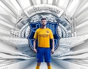 FC Barcelone 2016 mailot exterieur officiel Pique