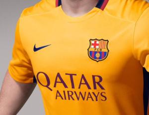 FC Barcelone 2016 mailot exterieur torse 15-16
