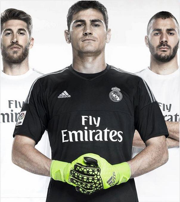 Real Madrid 2016 maillot de gardien noir 2015 2016