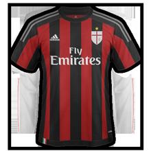 Milan AC 2016 maillot domicile 15-16