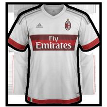 Milan AC 2016 maillot exterieur 15-16