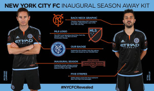 New York City FC 2015 maillot exterieur Lampard David Villa