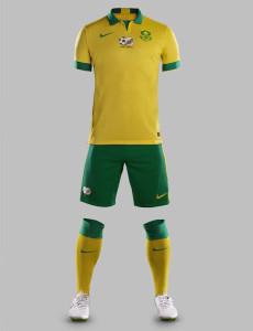 Afrique du sud maillot domicile CAN 2015