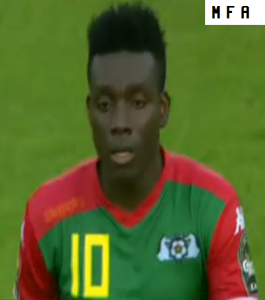 Burkina Faso 2015 maillot exterieur vert contre Guinee Equatoriale CAN