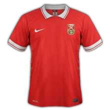 Chine 2015 maillot domicile foot