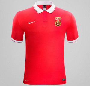 Chine 2015 maillot domicile football