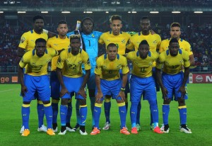 Gabon 2015 maillot foot domicile CAN 2015