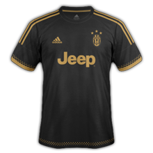 Juventus 2016 maillot third foot 2015-2016