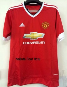 Manchester United 2016 maillot domicile 15-16
