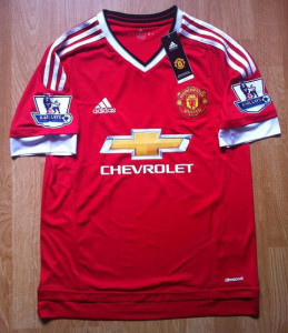 Manchester United 2016 maillot domicile patchs 2015-2016