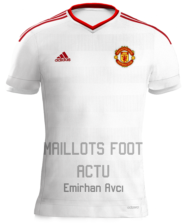 Infos photos maillots de football manchester united 2016 for Manchester united exterieur