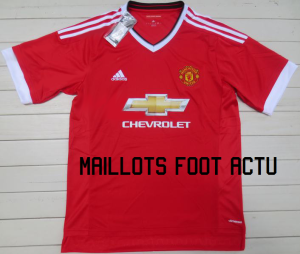 Manchester United 2016 maillot foot domicile 2015-2016
