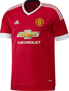 Manchester united 2016 maillot domicile football 15-16
