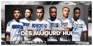 Maillot domicile Lyon 2015 2016 Adidas officiel