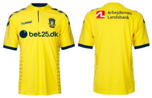 Brondby 2015 2016 maillot foot domicile