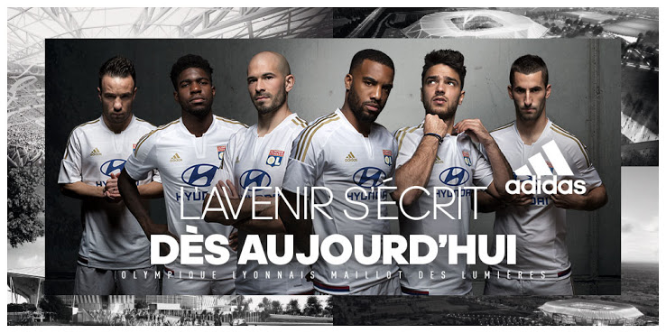 Lyon 2016 maillots de foot OL 2015/2016