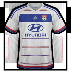 OL 2016 maillot domicile Lyon 15-16