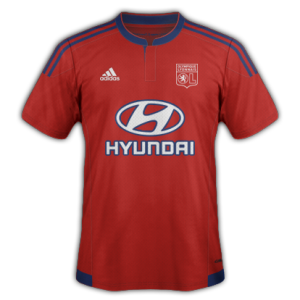 OL 2016 maillot exterieur rouge 2015 2016
