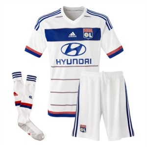 OL maillot domicile 2015 2016 blanc foot
