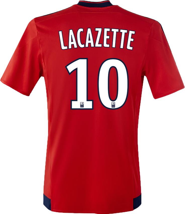 Maillot exterieur OL 2016 flocage Lacazette