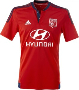 OL 2016 maillot exterieur rouge 2015 2016 foot