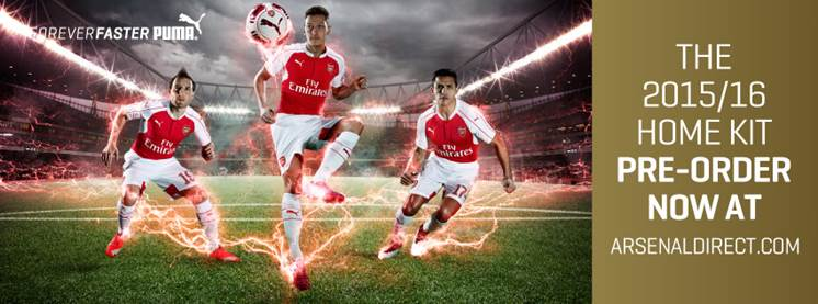Maillot domicile Arsenal officiel 2015 2016