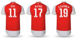 Arsenal 2016 maillot nouveau flocage
