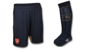 Arsenal 2016 short chaussettes exterieur 15-16