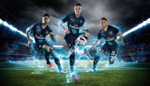 Arsenal 2016 troisieme maillot third 15-16 officiel