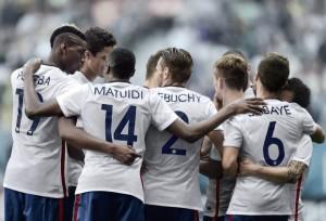 Equipe de France 2015 maillot exterieur blanc Pogba Matuidi Debuchy Cabaye